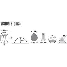 High Peak Vision 3 Tent Green/Phantom